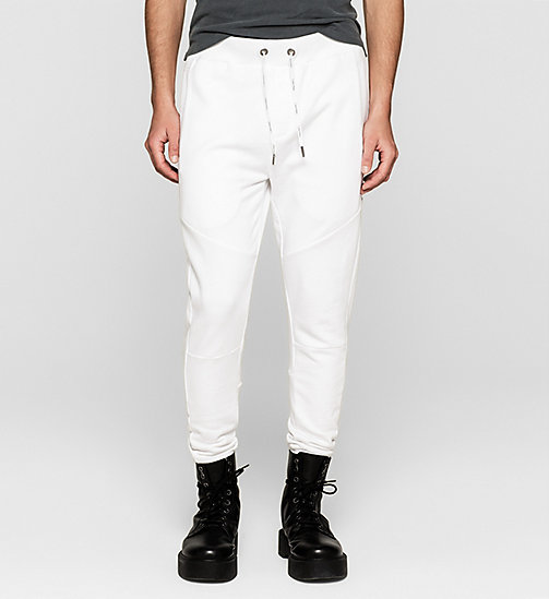 CKJEANS Logo Sweatpants - BRIGHT WHITE - CK JEANS SUMMER SHOP FOR HIM - main image