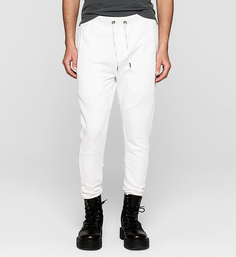 CKJEANS Logo Sweatpants - BRIGHT WHITE - CK JEANS TROUSERS - main image