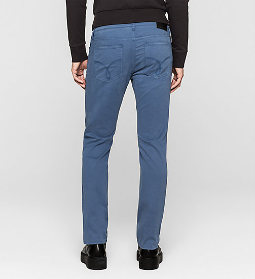 Slim Straight Trousers - TRUE NAVY - CK JEANS TROUSERS - detail image 1