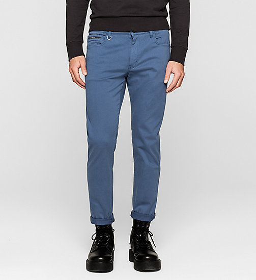 Slim Straight Trousers - TRUE NAVY - CK JEANS TROUSERS - main image