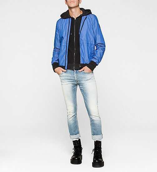 CKJEANS Hooded Zip Cardigan - CK BLACK - CK JEANS MEN - detail image 1
