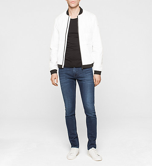 CKJEANS Bomber Jacket - BRIGHT WHITE - CK JEANS MEN - detail image 1