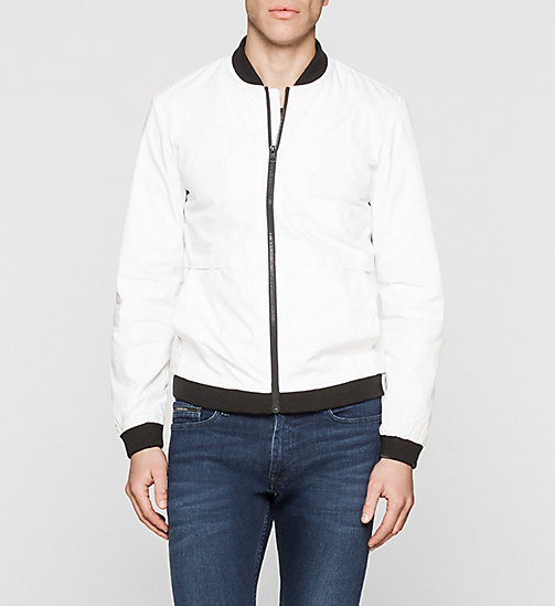CKJEANS Bomber Jacket - BRIGHT WHITE - CK JEANS MEN - main image