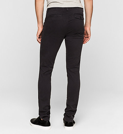 Regular Chino Trousers - CK BLACK - CK JEANS TROUSERS - detail image 1