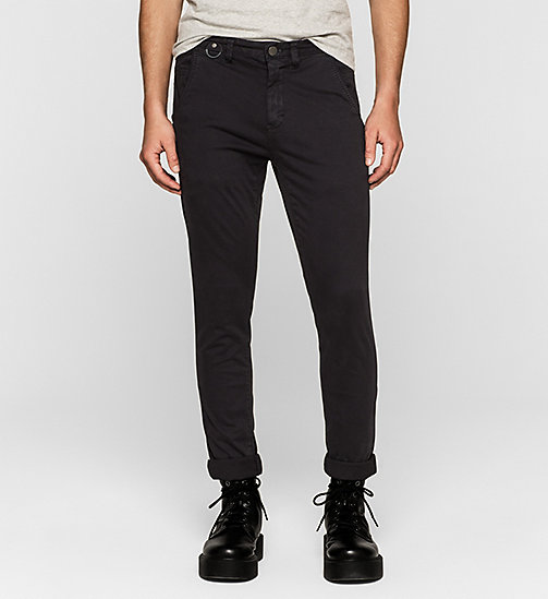 CKJEANS Regular Chino Trousers - CK BLACK - CK JEANS MEN - main image