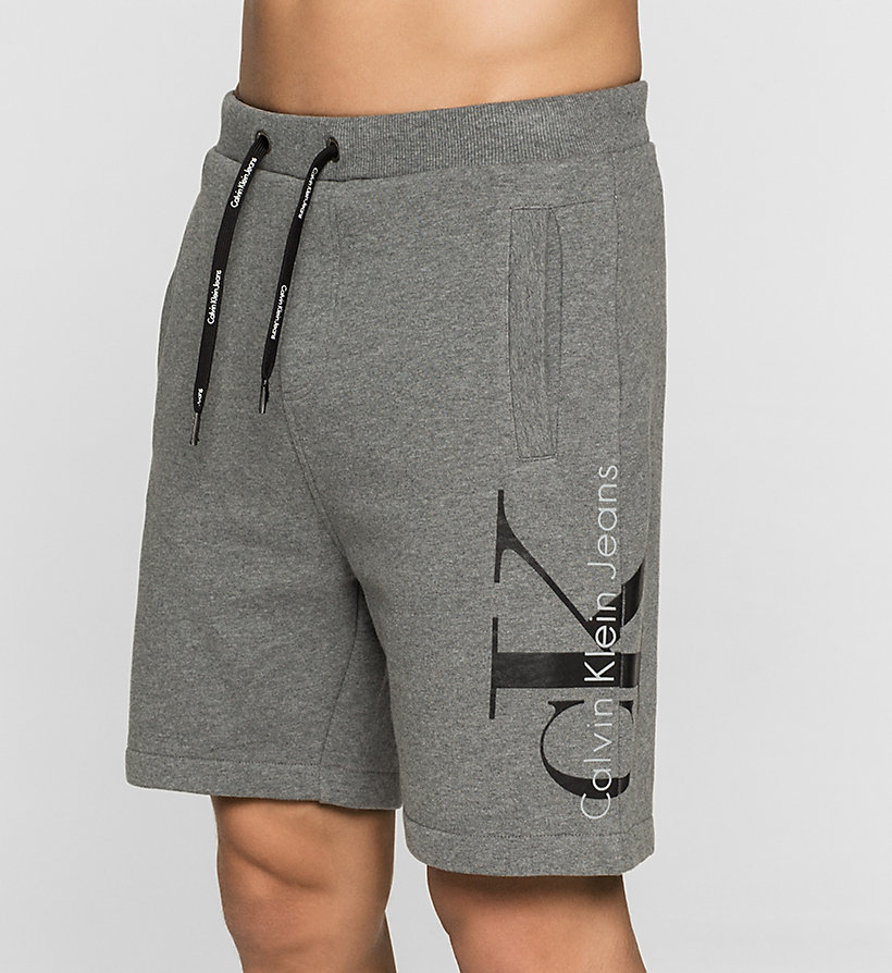 CKJEANS Logo Sweatshorts - MID GREY HEATHER - CK JEANS CLOTHES - detail image 2