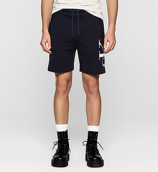 Short molleton avec logo - NIGHT SKY - CK JEANS SHORTS - image principale