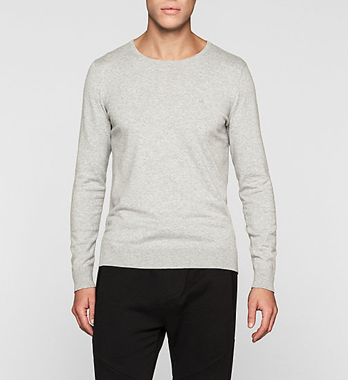 Cotton Stretch Pullover - LIGHT GREY HEATHER - CK JEANS PULLOVER - main image