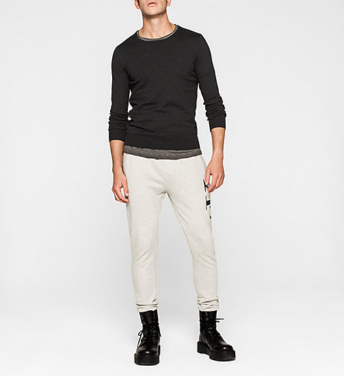 Cotton Stretch Sweater - CK BLACK - CK JEANS JUMPERS - detail image 1