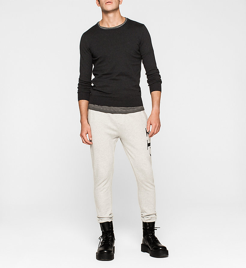 CKJEANS Cotton Stretch Sweater - CK BLACK - CK JEANS JUMPERS - detail image 1