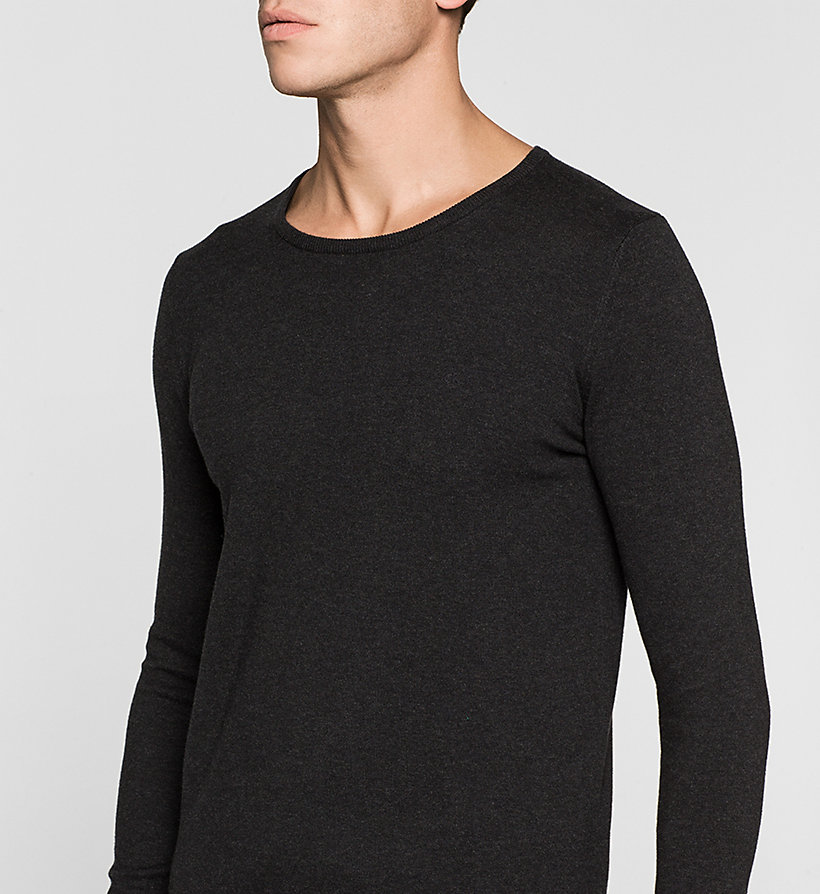 CKJEANS Cotton Stretch Sweater - CK BLACK - CK JEANS JUMPERS - detail image 2