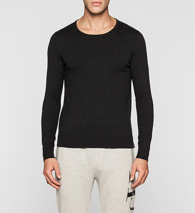 CKJEANS Cotton Stretch Sweater - CK BLACK - CK JEANS JUMPERS - main image