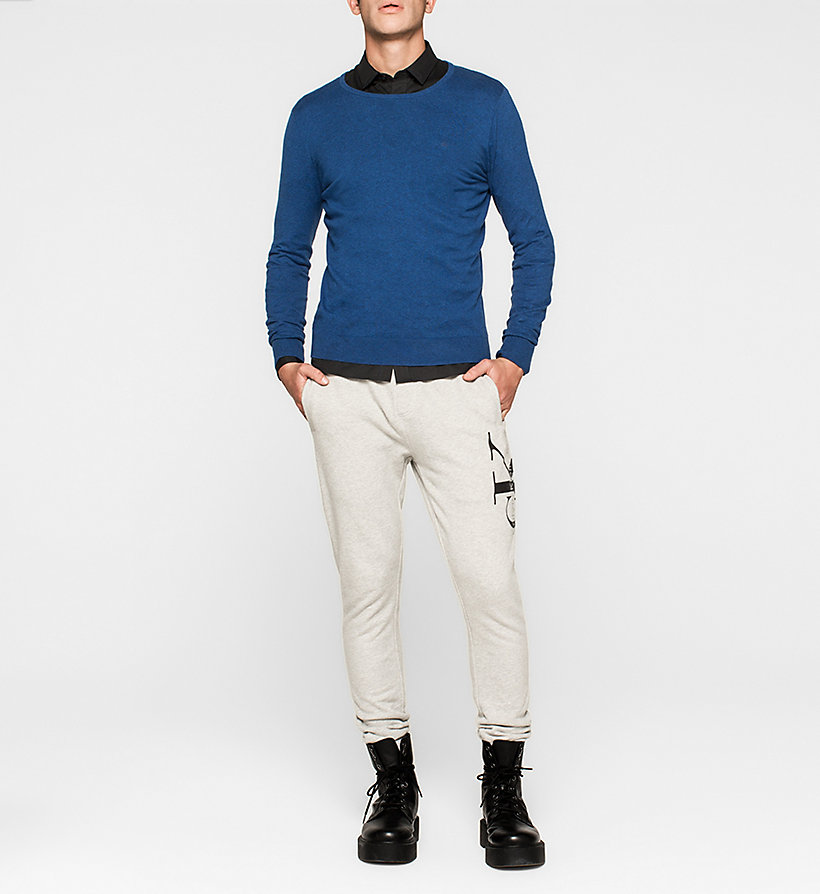 CKJEANS Cotton Stretch Sweater - MONACO BLUE - CK JEANS JUMPERS - detail image 1