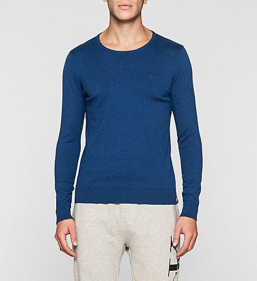 Cotton Stretch Sweater - MONACO BLUE - CK JEANS JUMPERS - main image