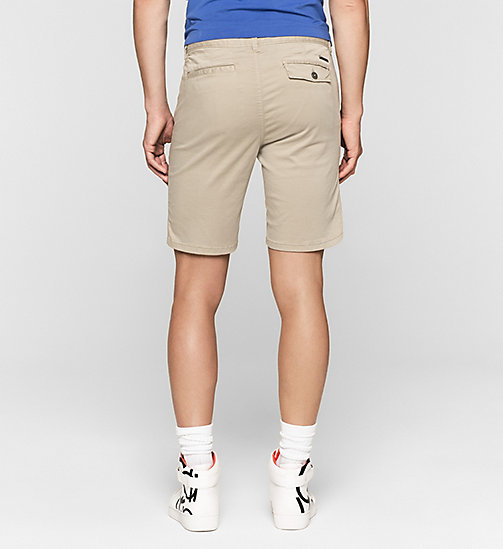 CKJEANS Fitted Chino Shorts - PLAZA TAUPE - CK JEANS SUMMER SHOP FOR HIM - detail image 1