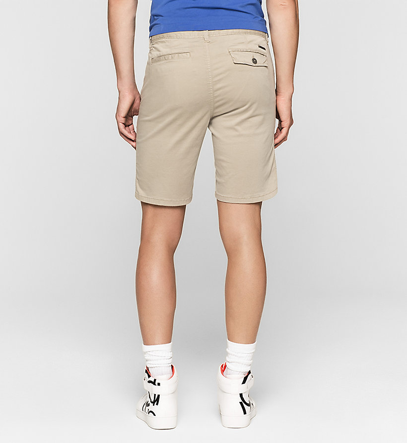 CKJEANS Fitted Chino Shorts - CK BLACK - CK JEANS SHORTS - detail image 1
