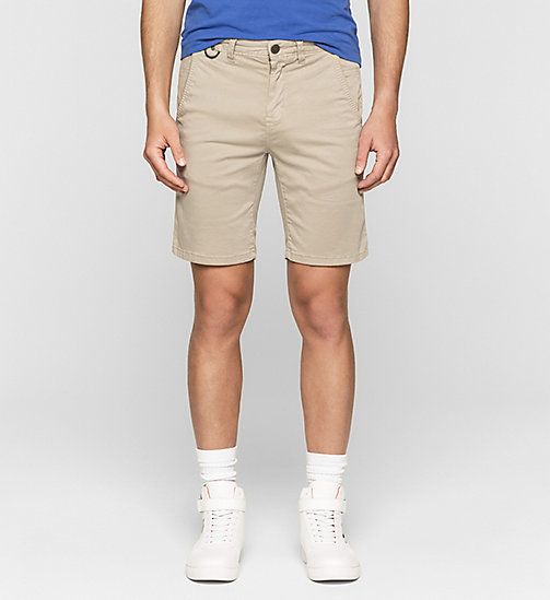 Fitted Chino Shorts - PLAZA TAUPE - CK JEANS  - main image