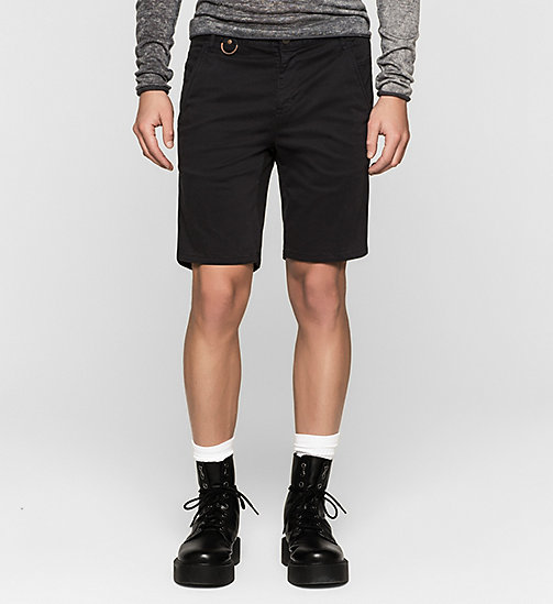 Fitted Chino Shorts - CK BLACK - CK JEANS  - main image