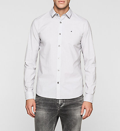 CALVIN KLEIN JEANS Slim Striped Shirt J30J304653901