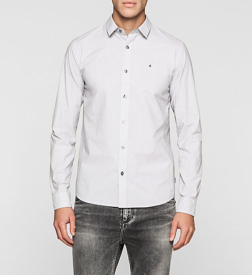 Slim Striped Shirt - WHITE/CK BLACK - CK JEANS SHIRTS - main image