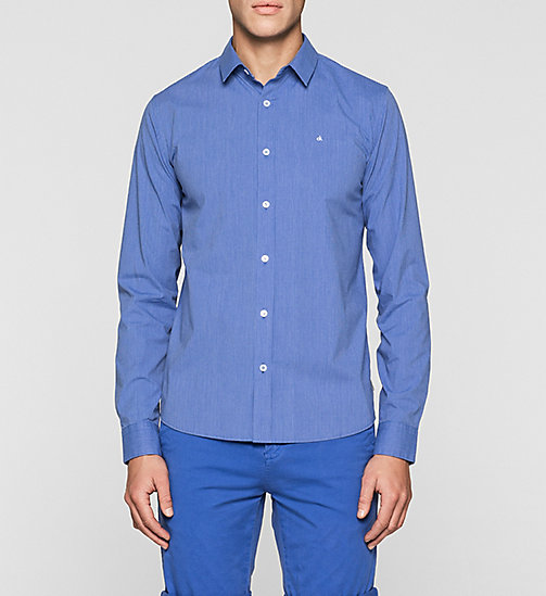 Slim Striped Shirt - BRIGHT WHITE/DAZZLING BLUE - CK JEANS SHIRTS - main image