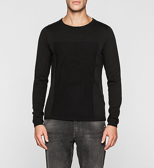 Logo Sweater - CK BLACK - CK JEANS JUMPERS - main image