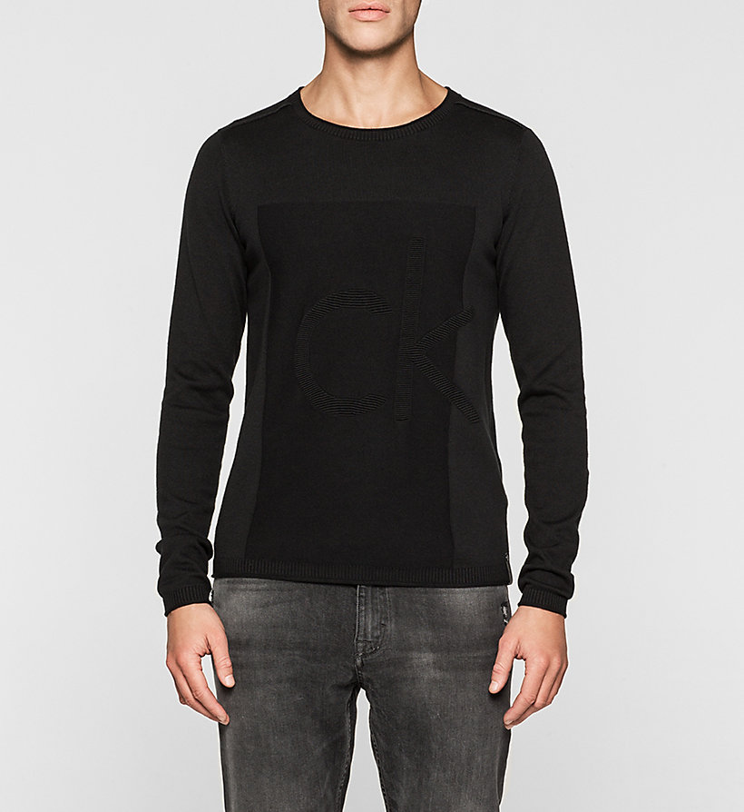 CKJEANS Logo Sweater - CK BLACK - CK JEANS JUMPERS - main image