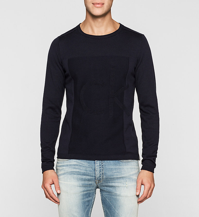 CKJEANS Logo Sweater - NIGHT SKY - CK JEANS JUMPERS - main image