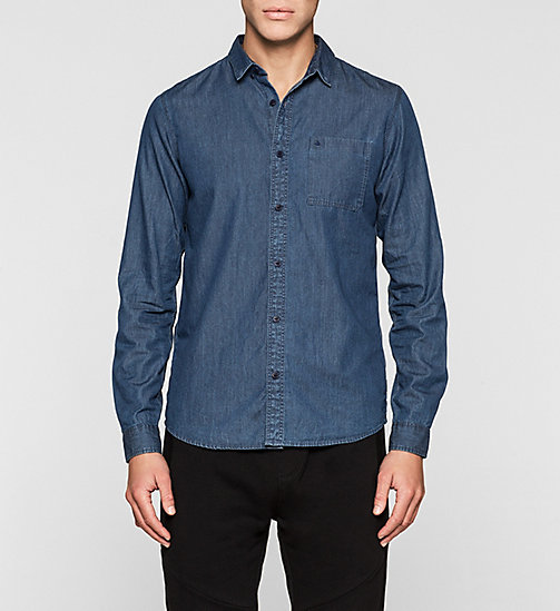Slim Denim Shirt - MID INDIGO - CK JEANS SHIRTS - main image