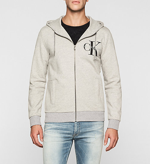 CKJEANS Sweat-shirt à capuche avec logo - GREY HEATHER - CK JEANS SOUS-VÊTEMENTS - image principale