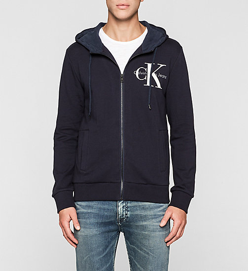 Sweat-shirt à capuche avec logo - NIGHT SKY - CK JEANS SOUS-VÊTEMENTS - image principale