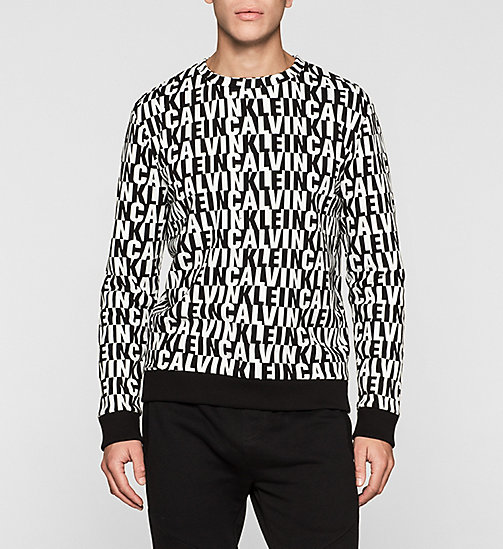 CALVIN KLEIN JEANS Printed Sweatshirt - CALVIN KLEIN BW AOP - CK JEANS CLOTHES - main image