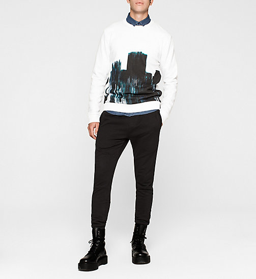 CKJEANS Printed Sweatshirt - BRIGHT WHITE - CK JEANS MEN - detail image 1
