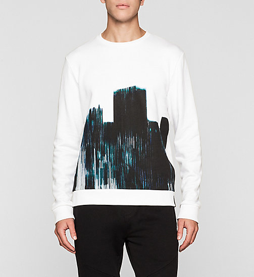 CKJEANS Printed Sweatshirt - BRIGHT WHITE - CK JEANS MEN - main image