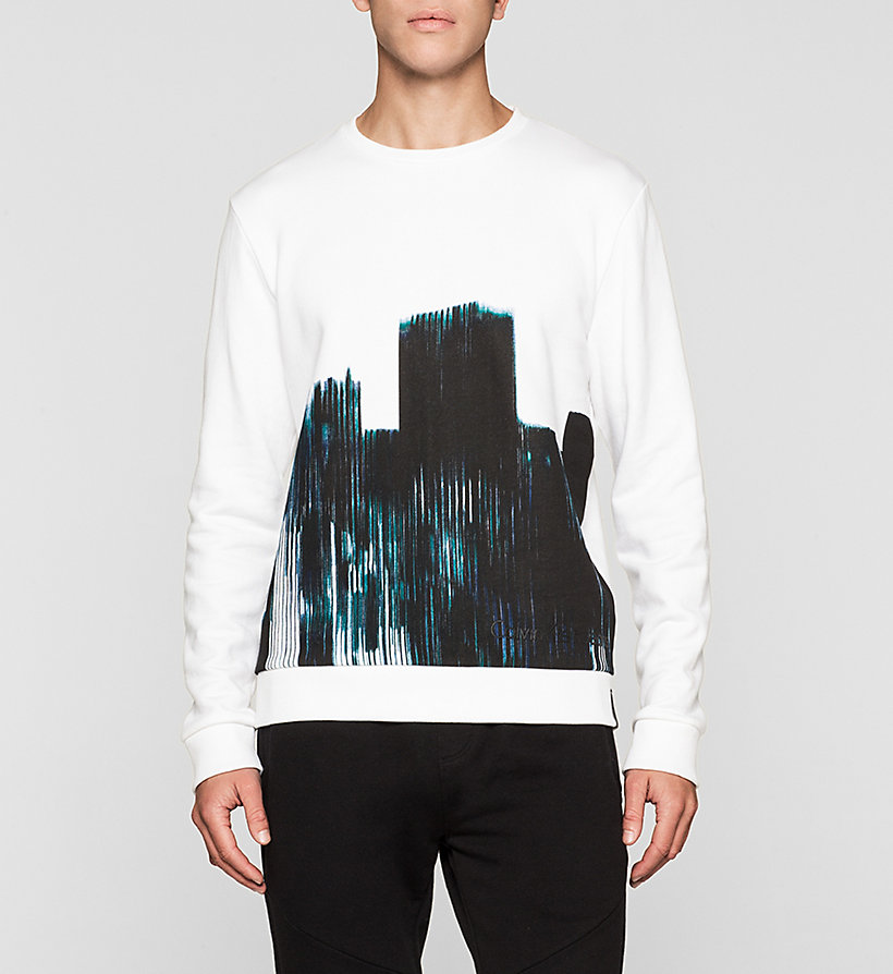CKJEANS Printed Sweatshirt - BRIGHT WHITE - CK JEANS CLOTHES - main image