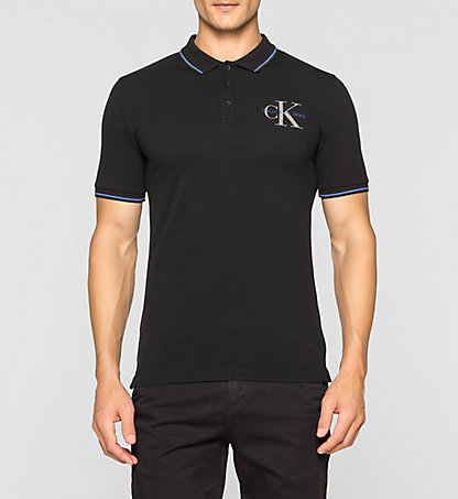 CALVIN KLEIN Slim Cotton Piqué Polo J30J304671099