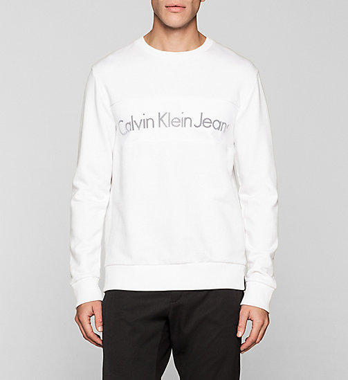 CKJEANS Logo Sweatshirt - BRIGHT WHITE - CK JEANS MEN - main image