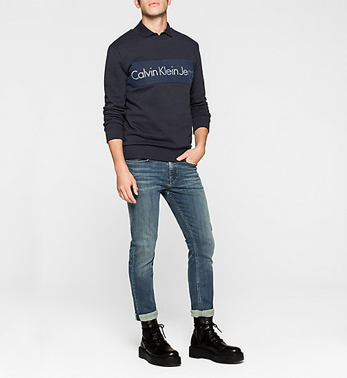 CKJEANS Logo Sweatshirt - NIGHT SKY - CK JEANS MEN - detail image 1