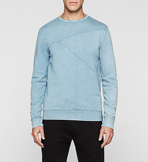 Sweatshirt met inzetten - DUSTY BLUE - CK JEANS ONDERGOED - main image