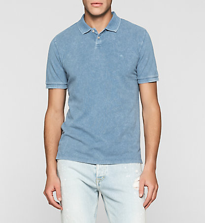 CALVIN KLEIN JEANS Fitted Cotton Piqué Polo J30J304683409