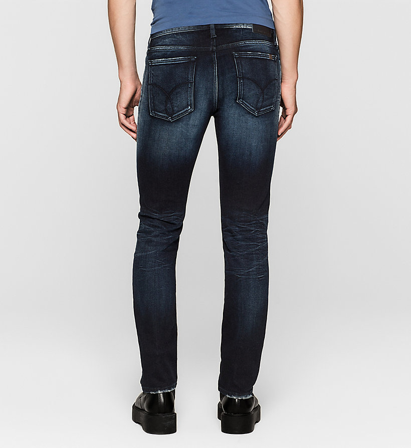 CKJEANS Slim Straight Jeans - THUNDERBLUE - CK JEANS CLOTHES - detail image 1