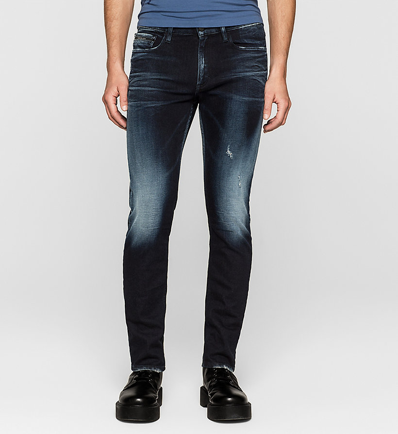 CKJEANS Slim Straight Jeans - THUNDERBLUE - CK JEANS CLOTHES - main image