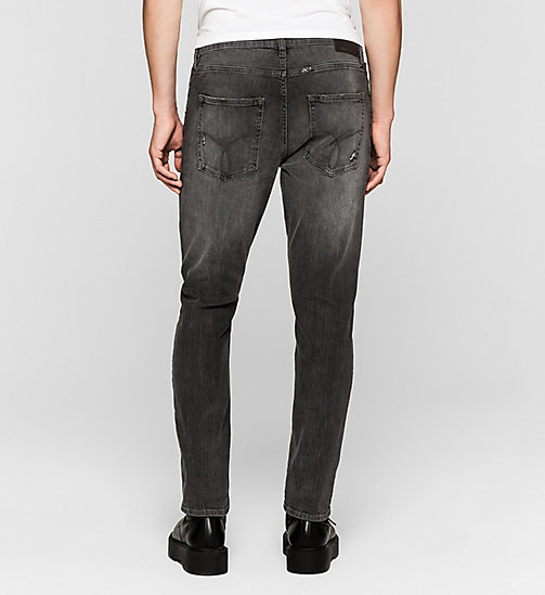CALVIN KLEIN JEANS Skinny Tapered Jeans - RUMBLE BLACK - CK JEANS CLOTHES - detail image 1