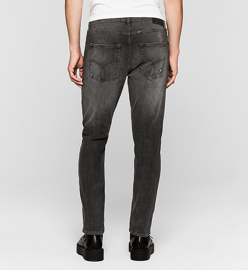 CKJEANS Skinny Tapered Jeans - RUMBLE BLACK - CK JEANS JEANS - detail image 1