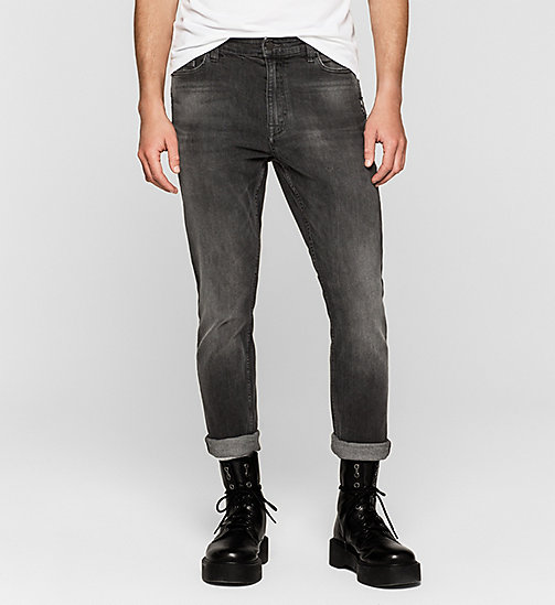 CALVIN KLEIN JEANS Skinny Tapered Jeans - RUMBLE BLACK - CK JEANS CLOTHES - main image