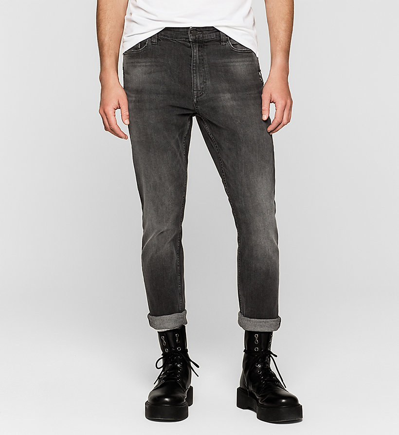 CKJEANS Skinny Tapered Jeans - RUMBLE BLACK - CK JEANS JEANS - main image