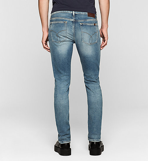 Slim Straight Jeans - TWISTER BLUE - CK JEANS  - detail image 1