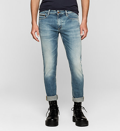 Slim Straight Jeans - TWISTER BLUE - CK JEANS  - main image