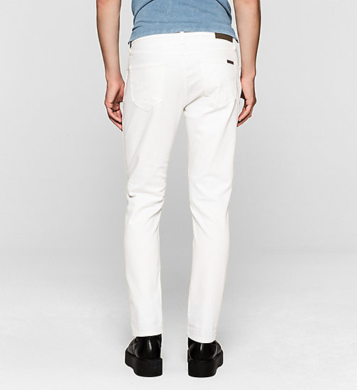Sculpted Slim Ankle Jeans - INFINITE WHITE COMFORT - CK JEANS JEANS - detail image 1