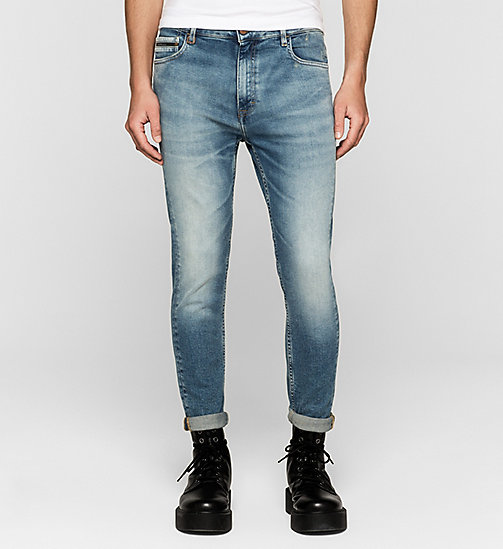 CALVIN KLEIN JEANS Skinny Tapered Jeans - TWISTER BLUE - CK JEANS CLOTHES - main image